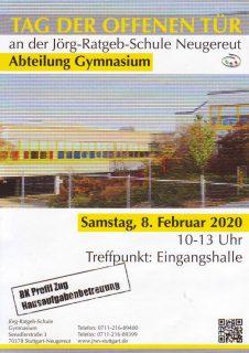 Plakat TdoT Gymnasium 2020